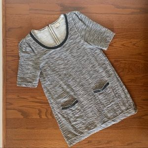 Anthropologie 9-HI5 S'CL black and white tunic